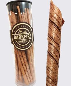 Darkfire cigar spills (6 inch)